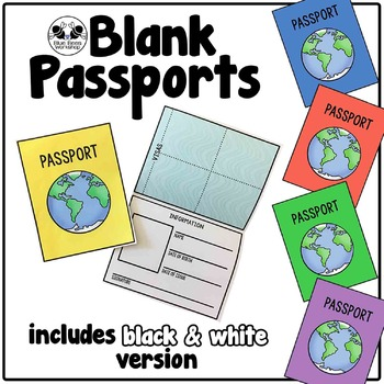 Your Students Can Travel Around The World Or The Classroom With These Blank Passports Passports For Kids Passport Template Around The World Crafts For Kids