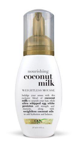 Organix Weightless Mousse Nourishing Coconut Milk Shoppers Drug Mart 11 99 Hair Mousse Styling Mousse Coconut Milk