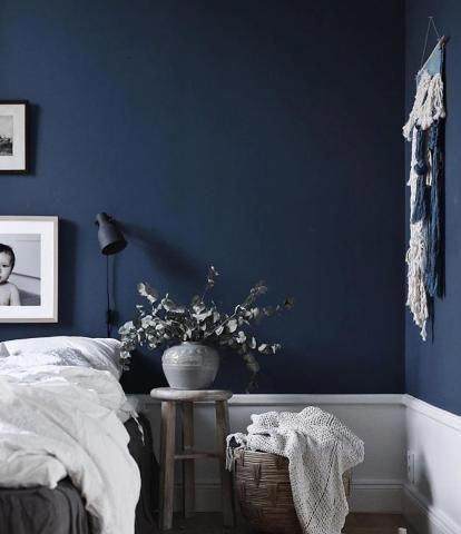Photo of Schlafen Sie gut. Die dunkelblaue Wand sorgt fürs stimmige Ambiente. (Bild: jol…