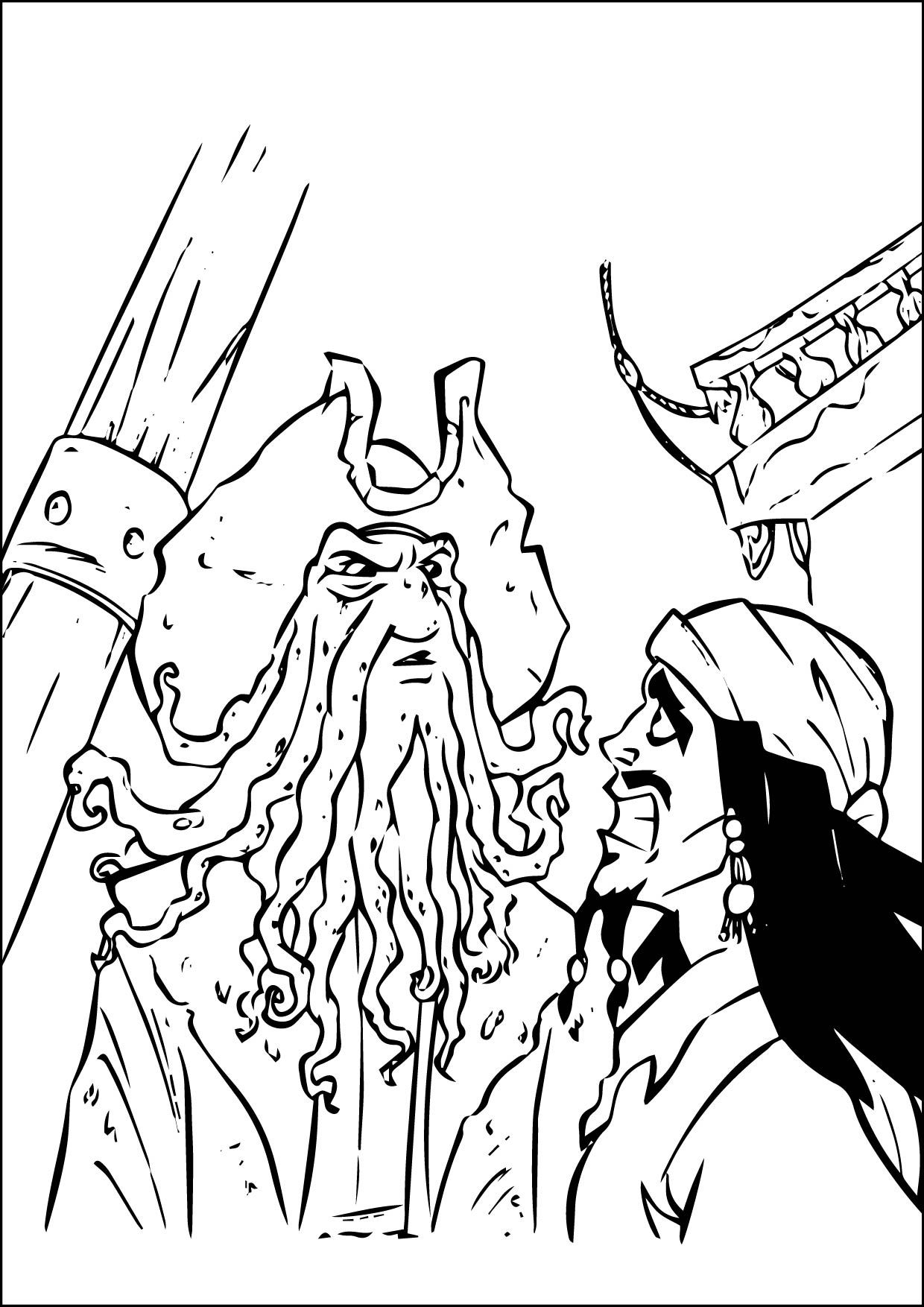 Nice Coloring Page 10 10 2015 175410 01 Check More At Http Www Mcoloring Com Index Php 2015 10 13 Coloring Pirates Of The Caribbean Coloring Pages Davy Jones