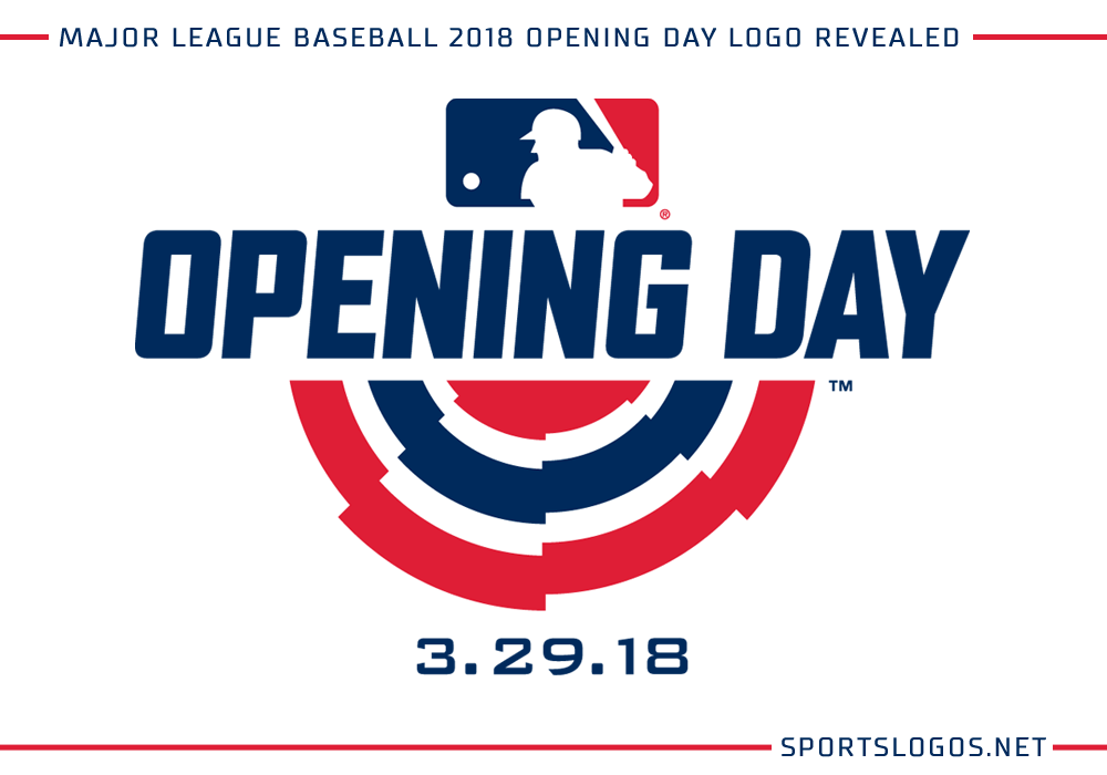 Mlb 2018 Opening Day Logo Revealed Chris Creamer S Sportslogos Net News And Blog New Logos And New Uniforms News Photos And Logo Reveal Logos Opening Day
