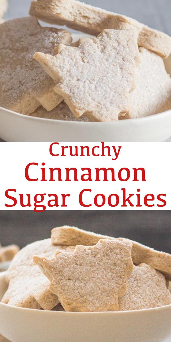 Crunchy Cinnamon Sugar Cookies #cinnamonsugarcookies