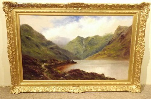 Loch Callater By Samuel Barnes Painting Antique Oil Painting Oil Painting