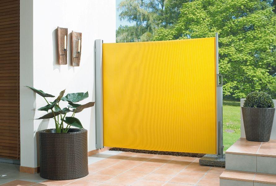Ausziehbare Seitenmarkise für Balkon und Terrasse (mit