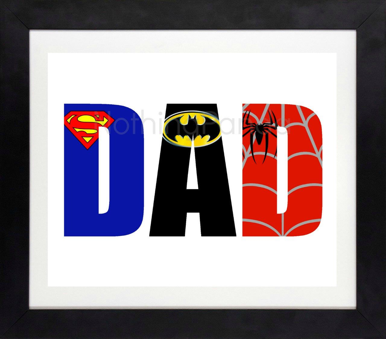Superhero Dad // Men's Prints // Father's Day Gift // Dad Wall Art