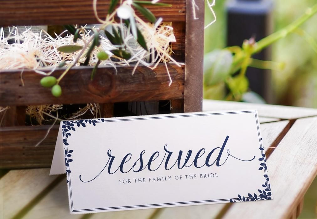 Reserved Sign Template Editable Pdf