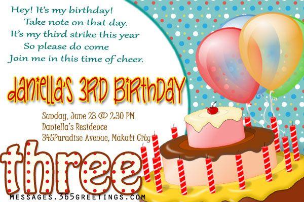 3rd birthday invitations free birthday card birthdays and free 3rd birthday invitations stopboris Gallery