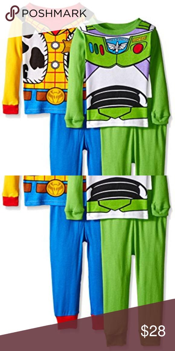 Toy Story Disney Boys 4-Piece Cotton Pajama Set