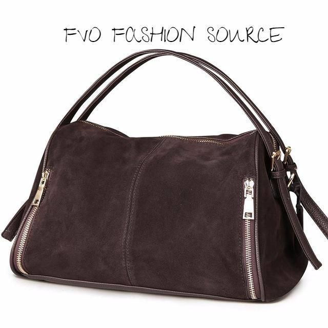 c04ee0ed95 Split Suede Leather Boston Bag. (7) Colors