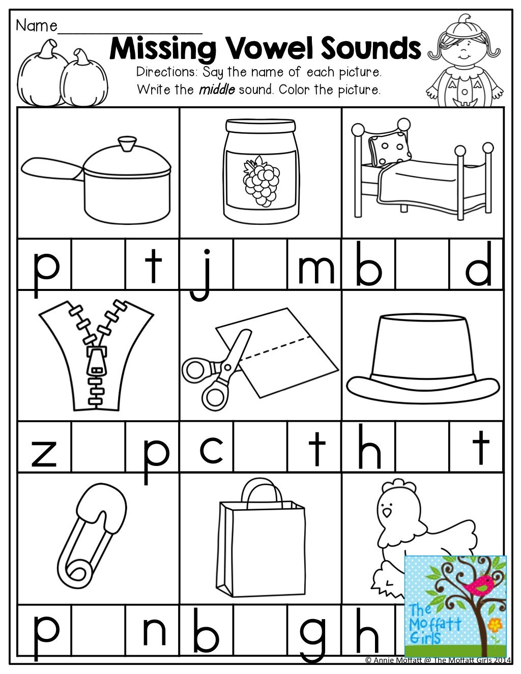 Middle Sounds And Tons Of Other Helpful Printables Kindergarten Language Arts Worksheets Kindergarten Language Arts Language Arts Worksheets Language arts free printable worksheets