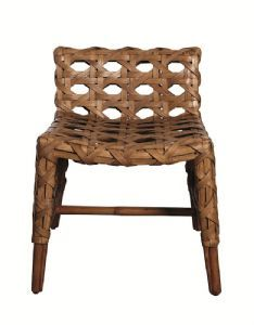 Low Back Rattan Chair  exaggerated rattan weave