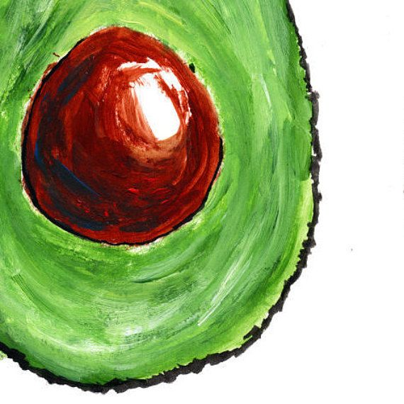Detail Of Avocado Print Food Art Food Illustration Wall Art