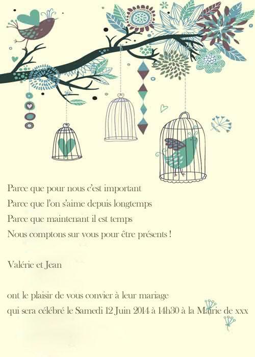 Faire Part Mariage Poche Style Diy Texte Faire Part