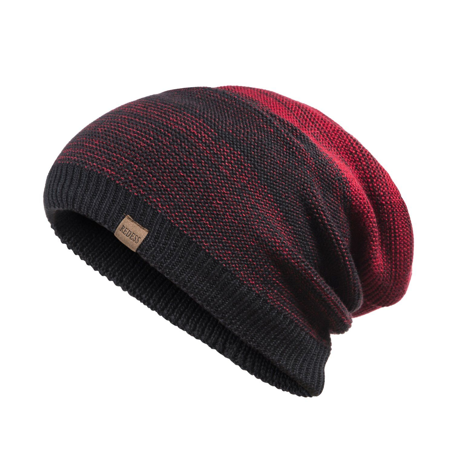 8749684cb84 REDESS Slouchy Long Oversized Beanie Hat for Women and Men Variy Styles and  Colors Fleece Lined