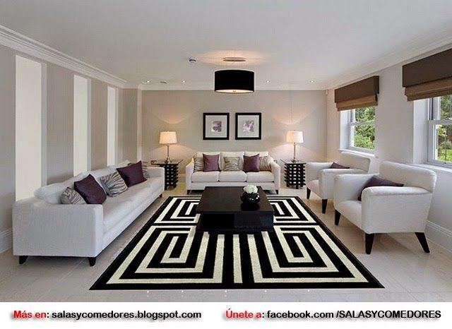 Modernas alfombras para living salas living room for Alfombras para sala pequena