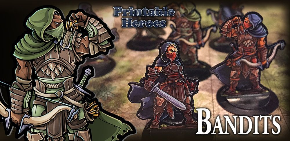 graphic about Printable Heroes Patreon named PrintableHeroes is acquiring Paper Miniatures Paper