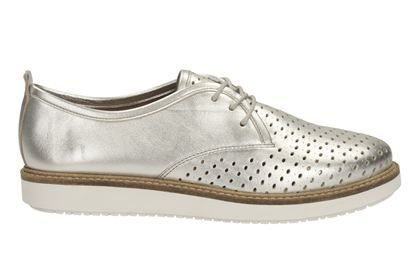 womens casual shoes  glick resseta in silver leather from
