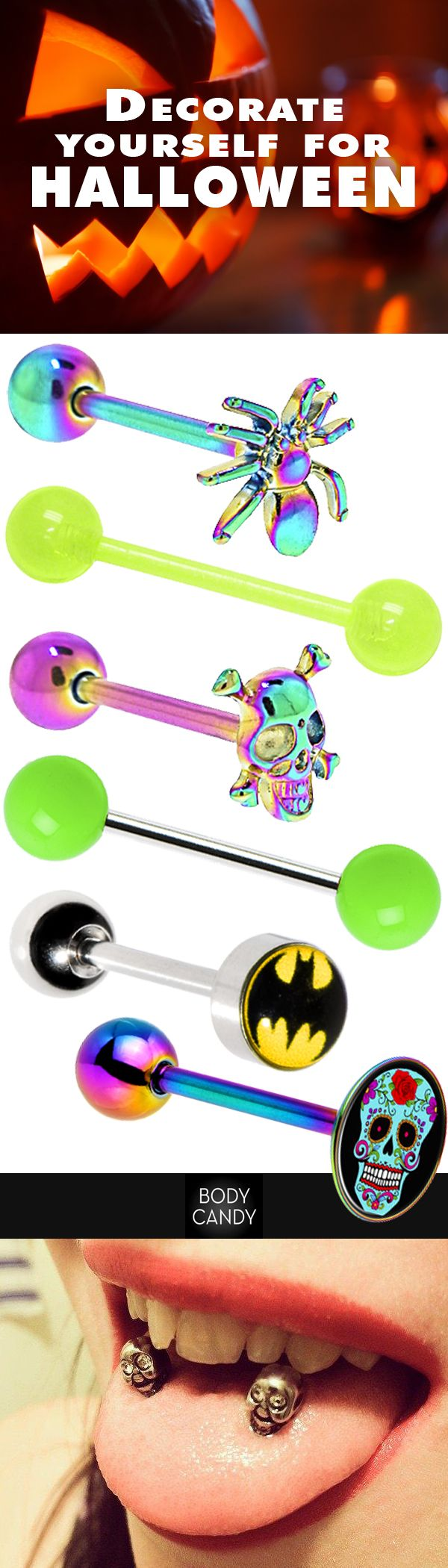 Tongue piercing areas  Double double toil and tongue rings See more at BodyCandy