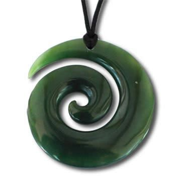 fishhook maori pendant hawaiian necklace ebay spiral bhp koru the