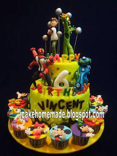 Ben Ten Ultimate Alien Birthday Cake With Images Cake