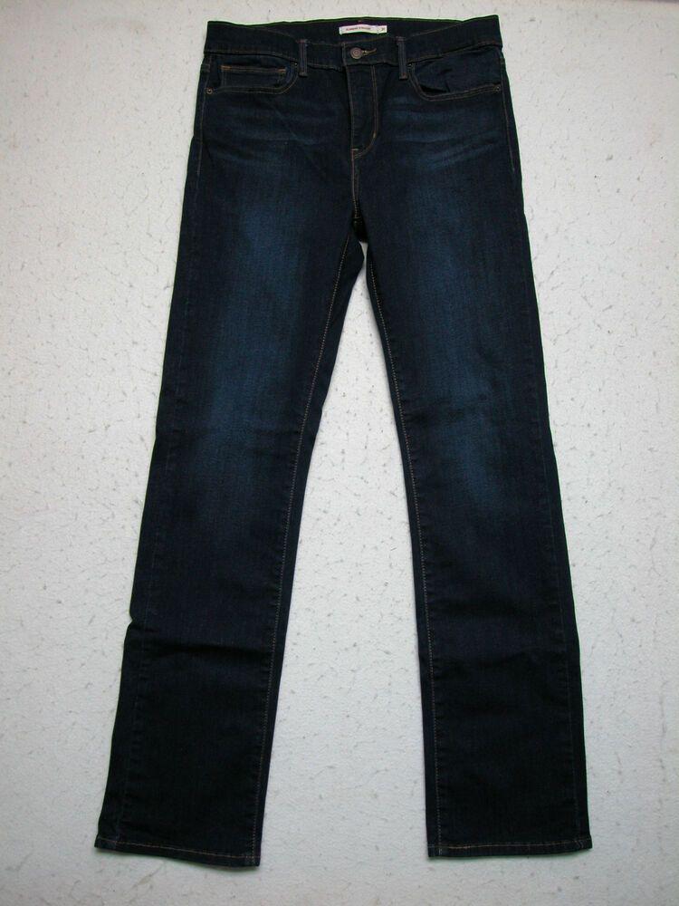 Womens Levi's Jeans Sz 31 Slimming Straight Dark Wash