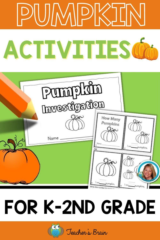Pumpkin Activities Kindergarten And First Grade Worksheets Pumpkin Activities Kindergarten First Grade Worksheets Elementary Teaching Resources [ 1500 x 1000 Pixel ]