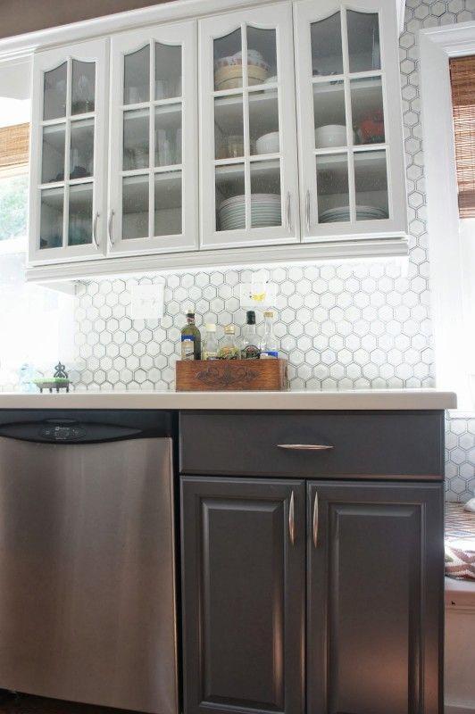 Two Tone Gray And White Kitchen Makeover Lovelee Homemaker
