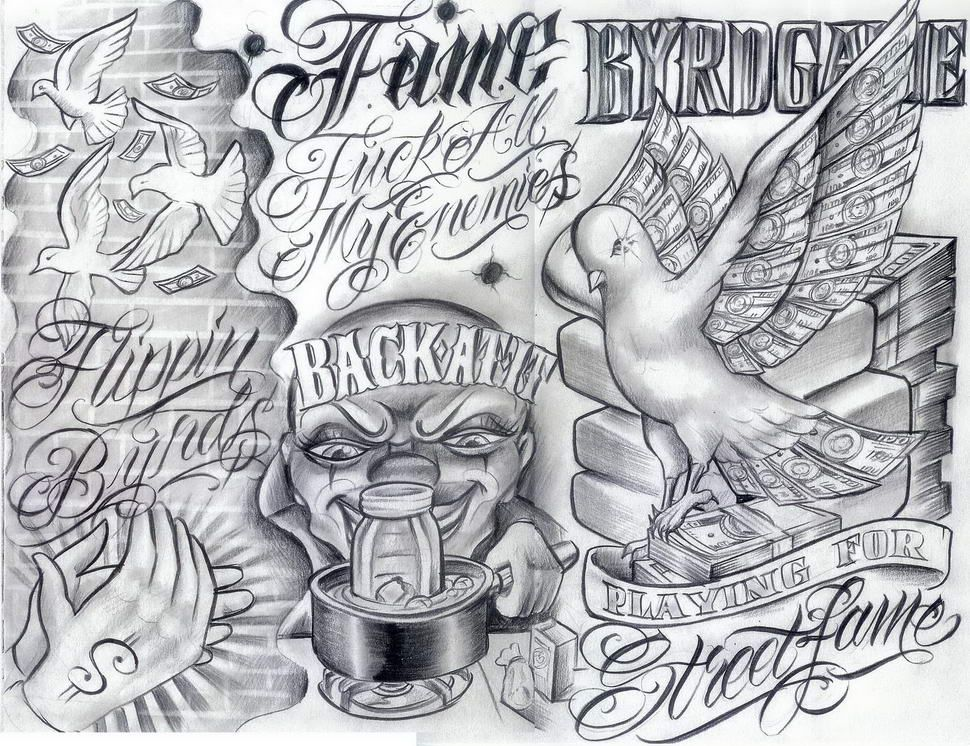 Freetattooflashpattern Chicanos Boog Tattoo Just