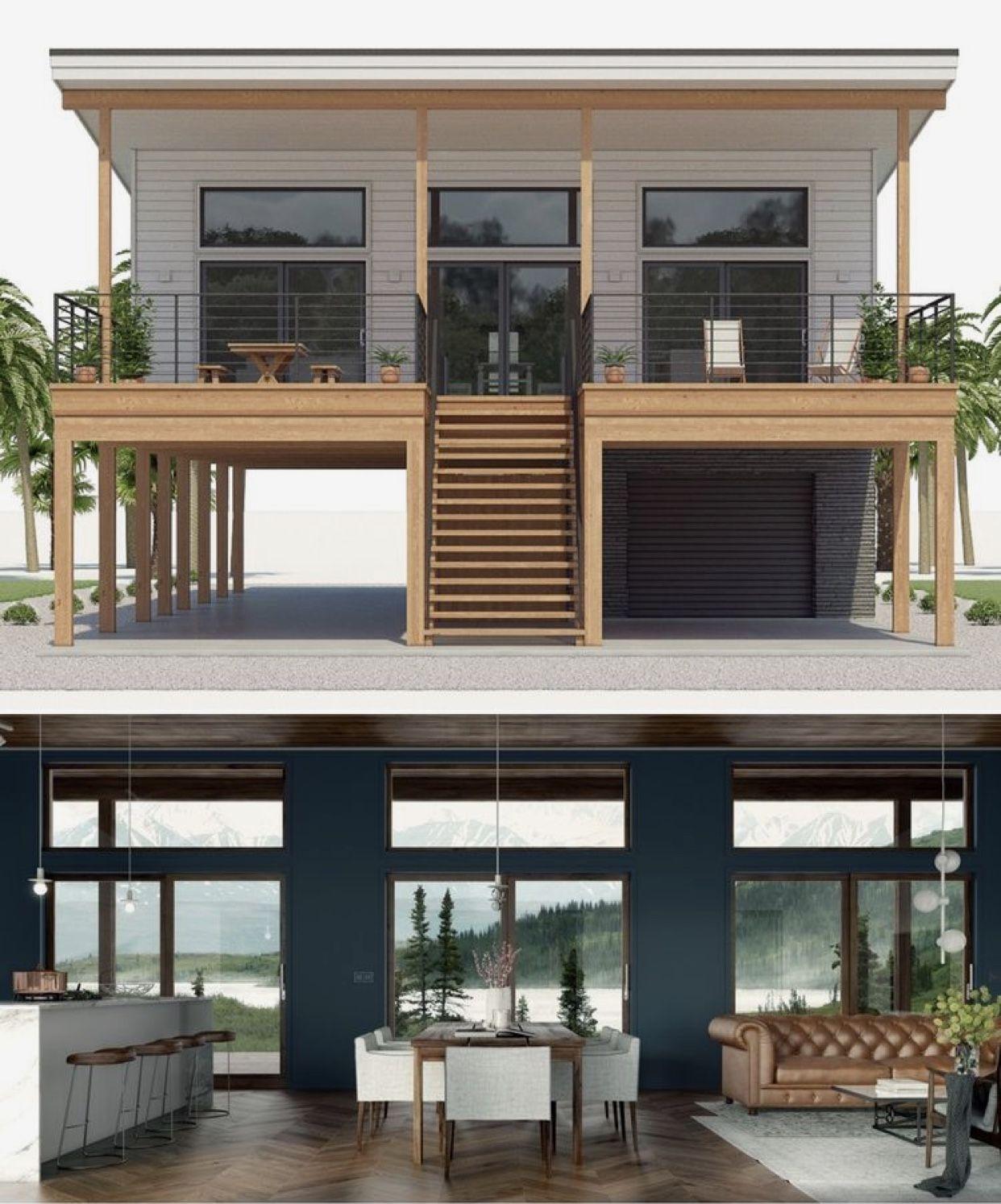 What A Wonderful Space House On Stilts Modern Beach House