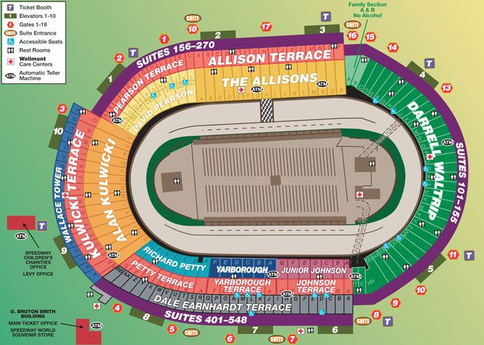 Bristol motor speedway seating chart we ve got great tickets