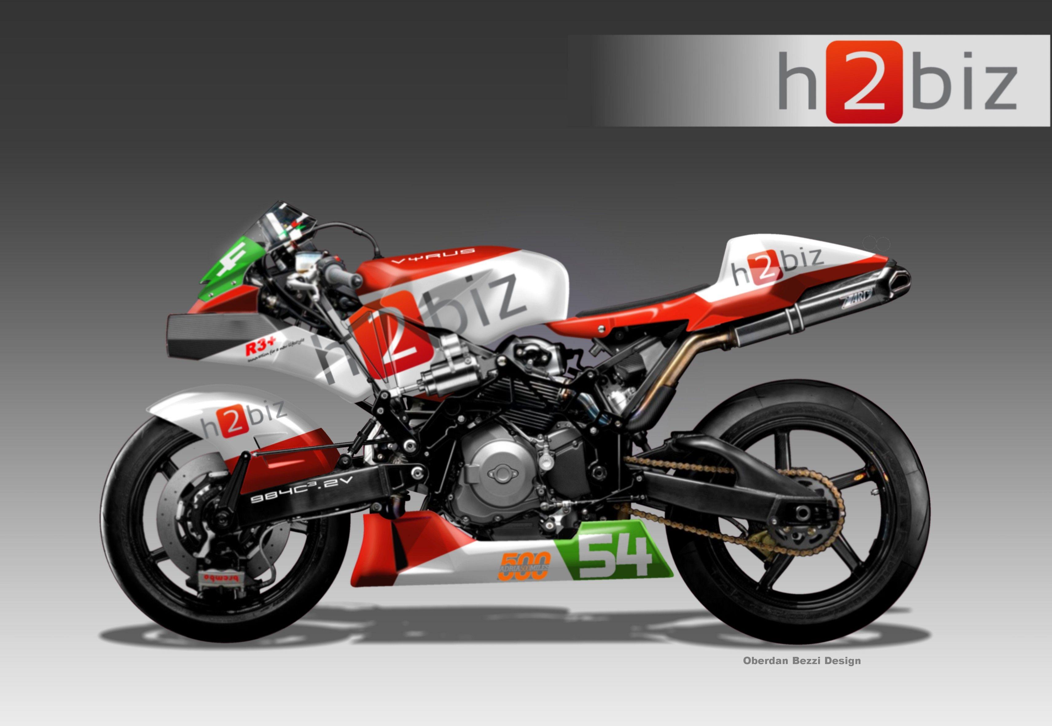 La Vyrus 984 V2 Che Debuttera Alla 500 Miglia Di Adria Coi Colori H2biz バイク 車