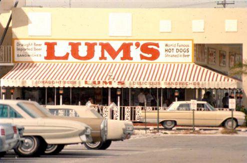 Lum S Hot Dogs Next Door To Present Day Volvo Store Across From