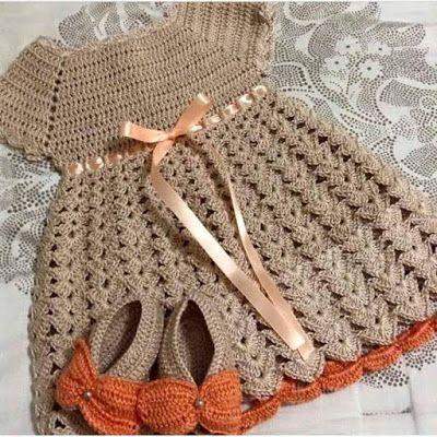Cómo vestir a crochet patrones gratis para los bebés con gráfico ...