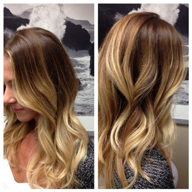 How to balayage front of hair
