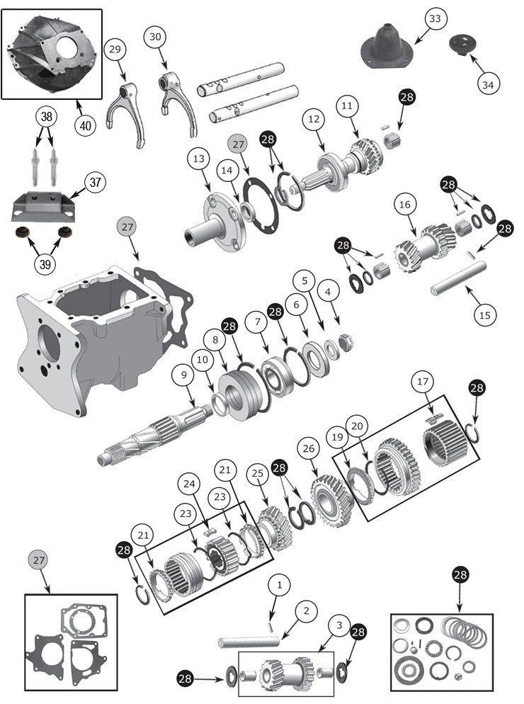 T150 Transmission Parts