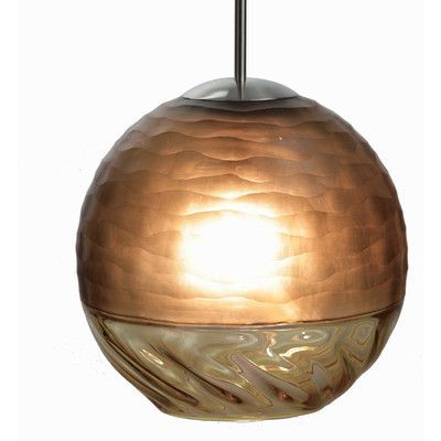 Viz Glass Encalmo 1 Light Globe Pendant Shade Color: Naples Yellow