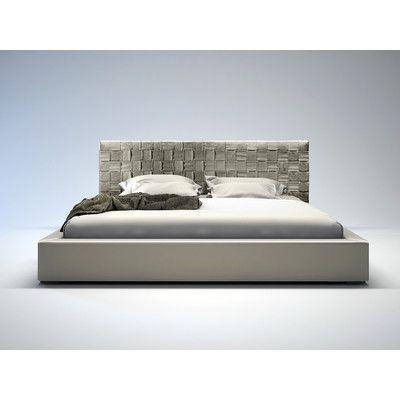 Modloft Madison Upholstered Panel Bed Modern Bed Upholstered Platform Bed Leather Platform Bed