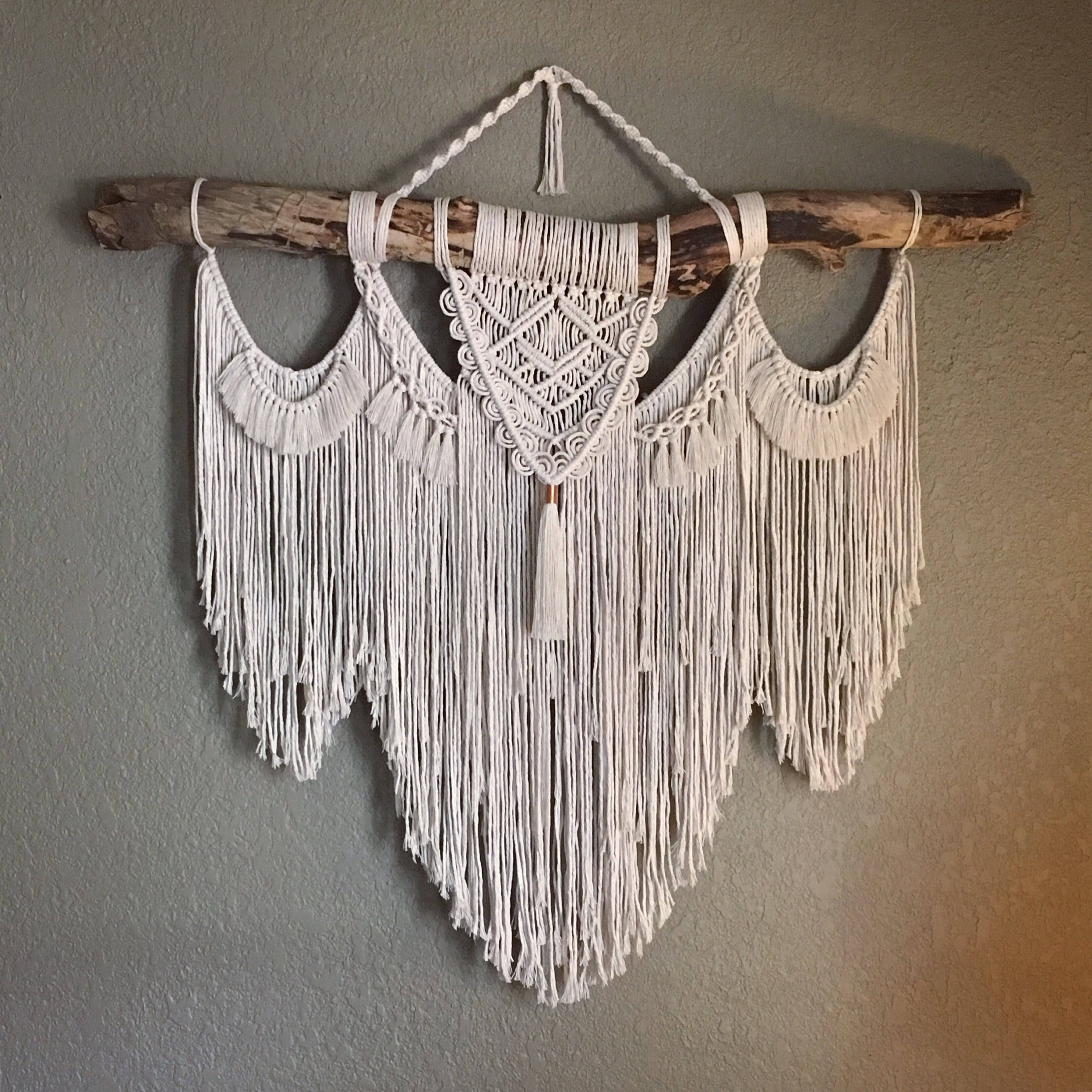 large macrame wall hanging on driftwood branch large on macrame wall hanging id=95391