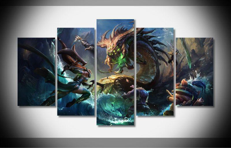 League Of Legends Akali Teemo Wall Art Canvas Art Wall Decor Customized Canvas Art Wall Canvas