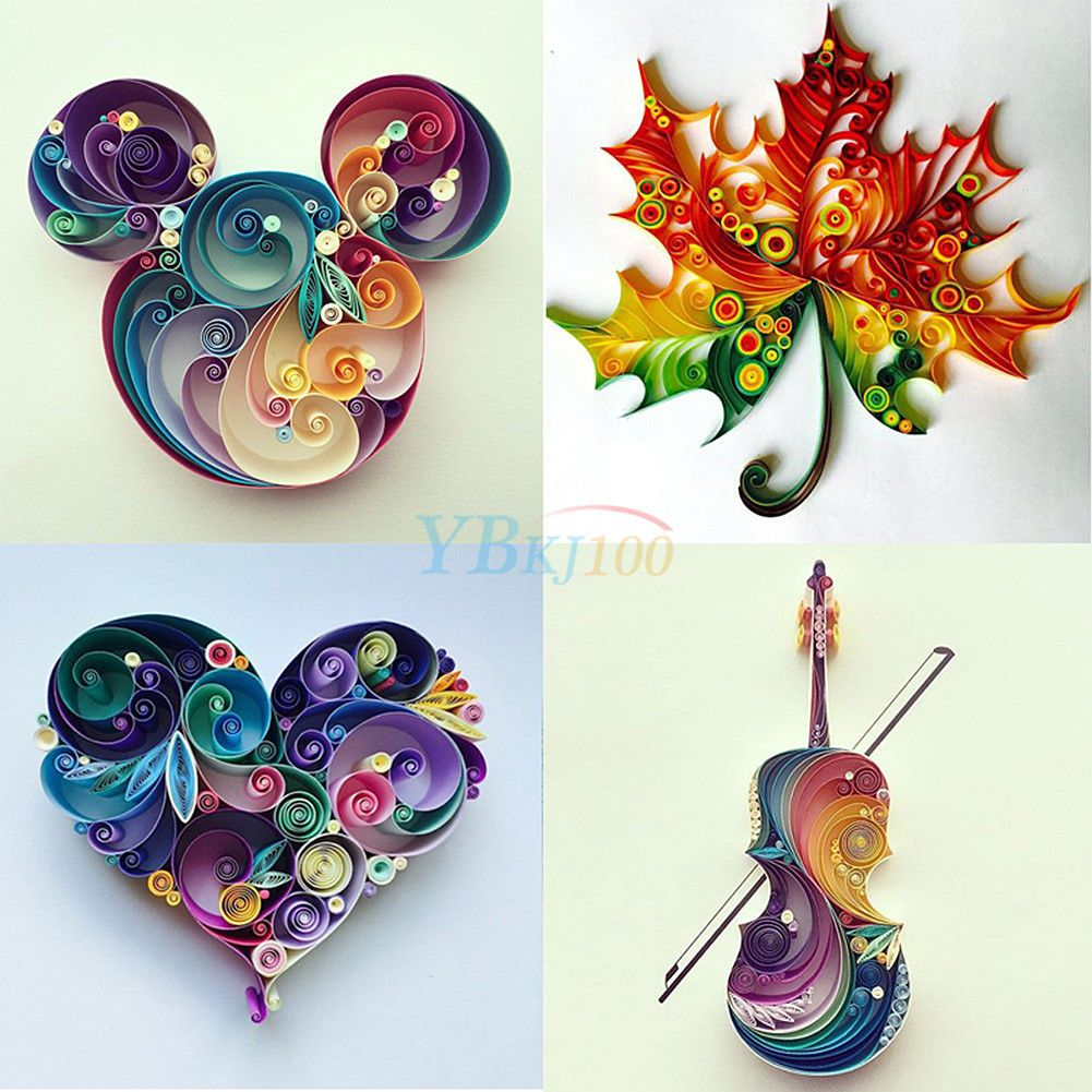 2 99 600 Strips Quilling Paper 3mm Width Solid Origami Paper Diy