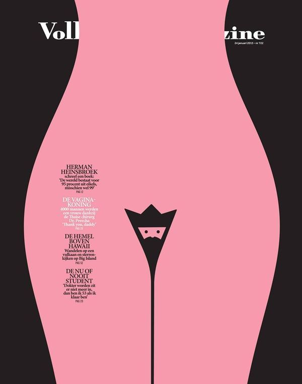 Dutch Uncle News Blog Cover Volkskrantmagazine About King Vagina Nom