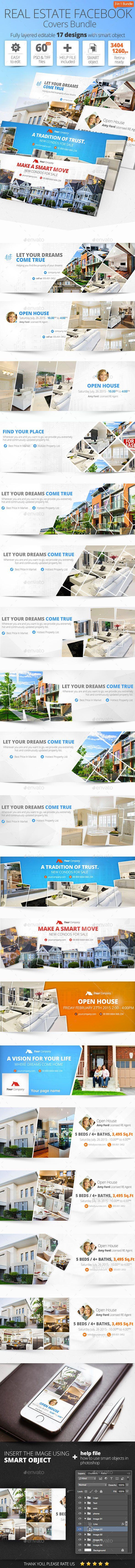 real estate facebook cover bundle designs timeline covers real estate facebook cover bundle 17 designs template graphicriver