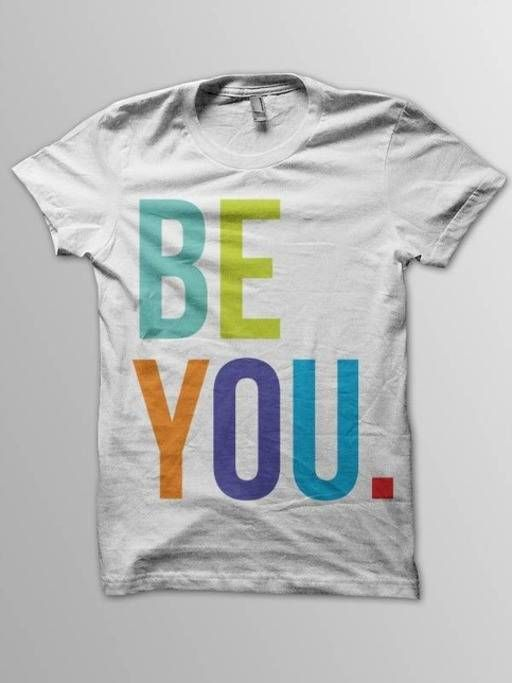 BE YOU. - Men's White Cotton T-Shirt in Modern Collections Online Store's store on Consignd - $24.00