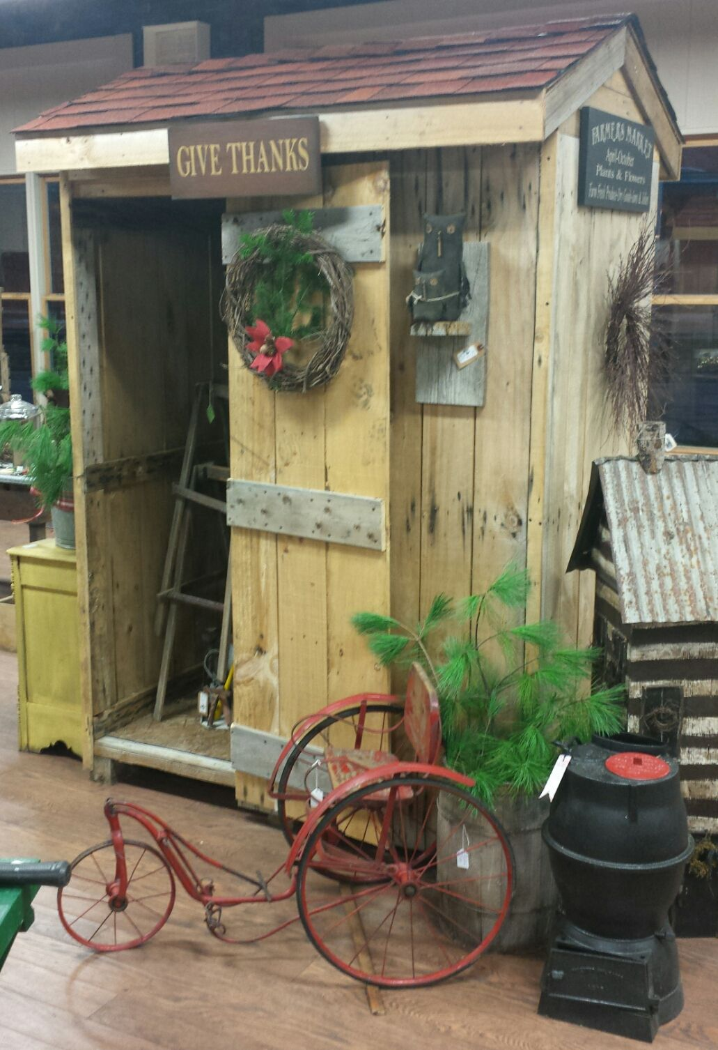 primitive garden shed available at antique mercantile jackson michigan 850