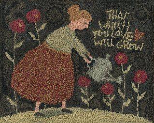 """Grow"" punchneedle  (patterns by teresa kogut)"