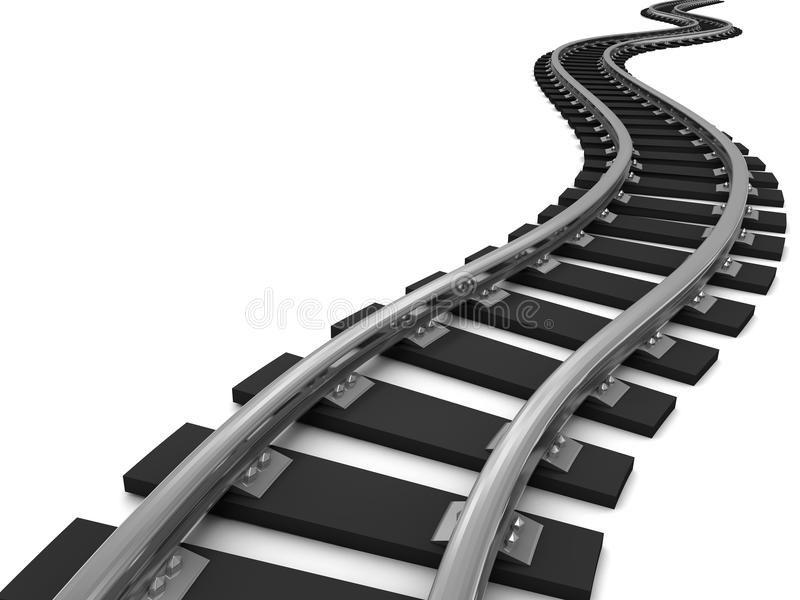 Curve Train Tracks Curved Train Tracks On White Background 3d Illustration Ad Tracks Train Curve Curved Ill Stock Images Free Train Tracks Image