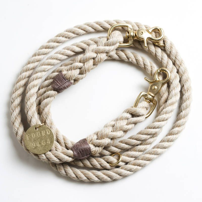 Vintage dog leash with brass clipps | Rope dog, Rope dog leash