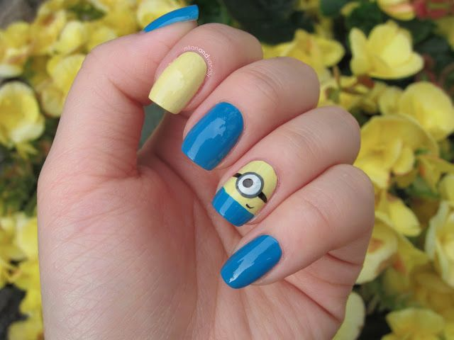 easy minion nails | Disney Pedicure | Pinterest | Arte de uñas, Arte ...