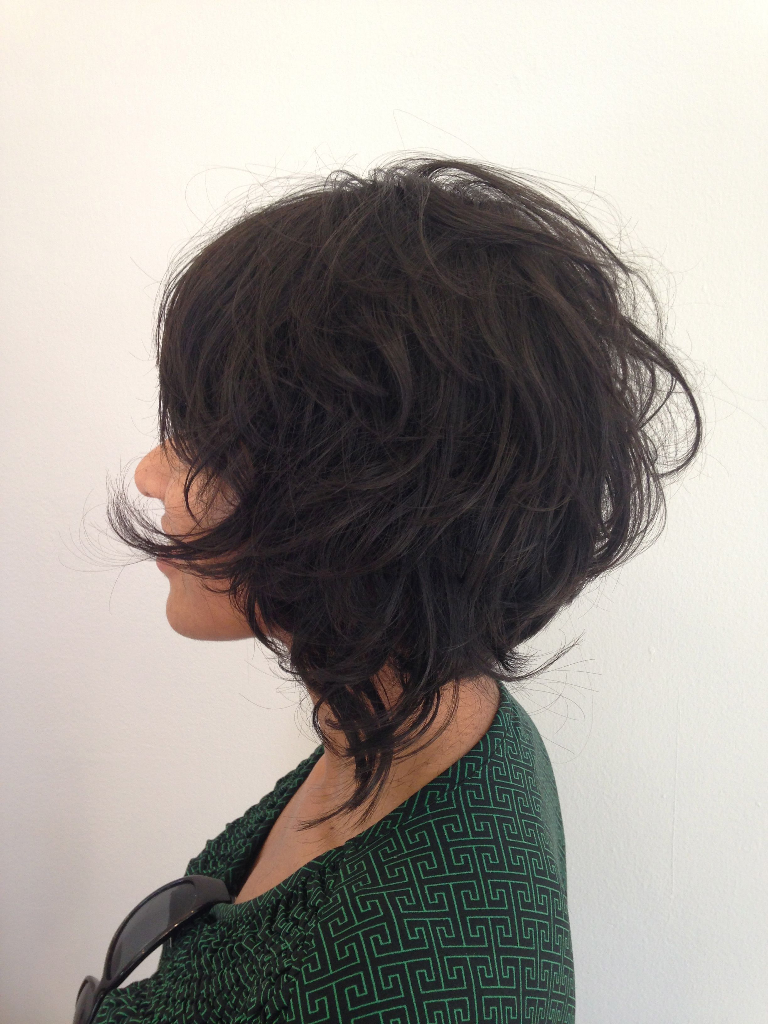 Messy Fun Bob Haircut With Lots Of Layers Use R Co Control Creme Pomade For Better Hair Style Definition Hair Styles Short Summer Hair Short Hair With Layers