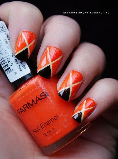 Fotos de u as color naranja 50 ejemplos orange nails - Color de unas de moda ...